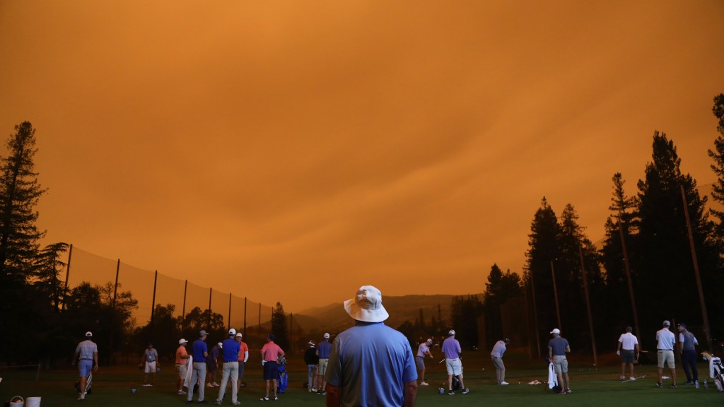 The sky at the Safeway Open was shades of 'Total Recall'