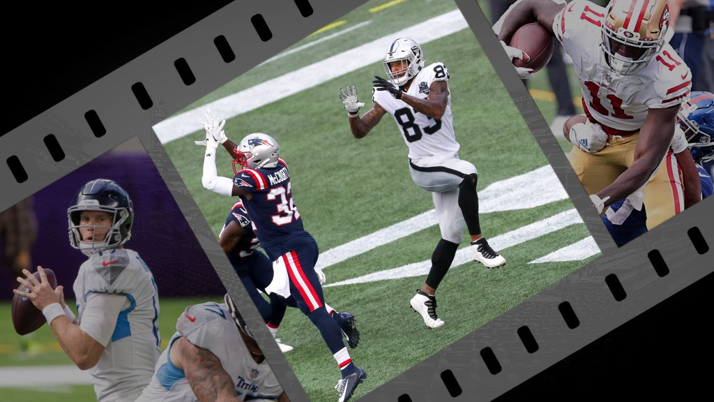 NFL Week 3 cut-ups: Belichick slows Waller, Aiyuk breaks out and Tannehill puts on a play-action show