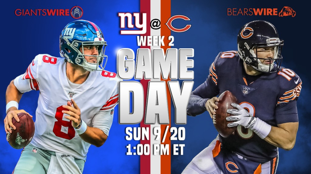 Bears vs. Giants, Week 2: Time, TV schedule and how to watch online