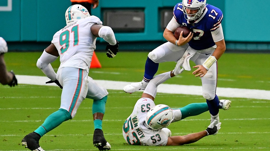 Bills teammates pumped for Josh Allen's big day vs. Dolphins
