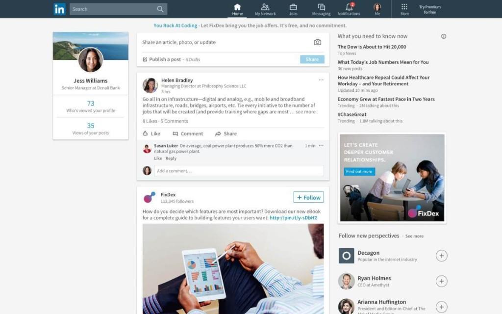 Inside LinkedIn's desktop redesign rolling out now