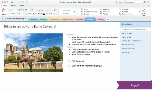 Microsoft makes its Evernote competitor OneNote free, launches it on the Mac