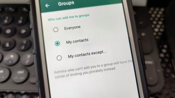 WhatsApp now lets everyone control who can add them to a group