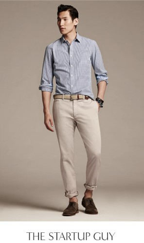 'Startup Guy' fashion is literally a style in Banana Republic's Summer line