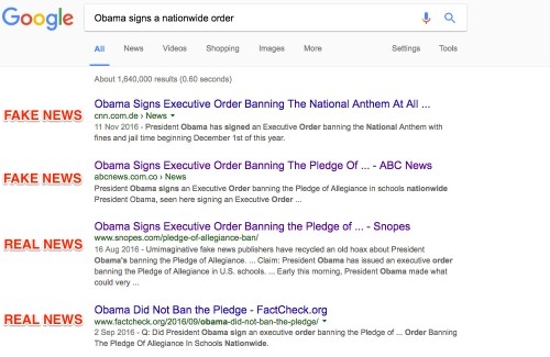 Google's search algorithm update unintentionally helps fake news outrank real news