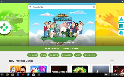 Google Play starts rolling out to Chrome OS stable