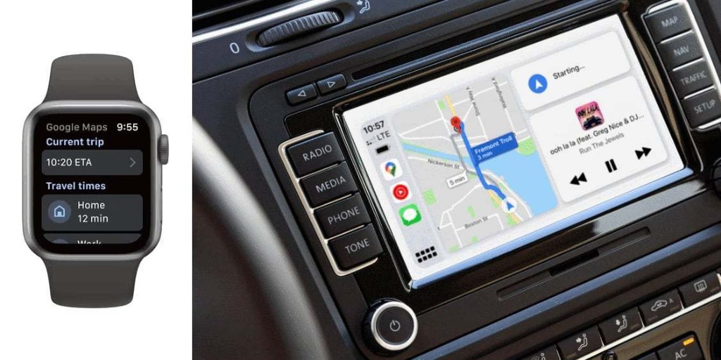 Google Maps is coming to Apple Watch, adding CarPlay Dashboard support