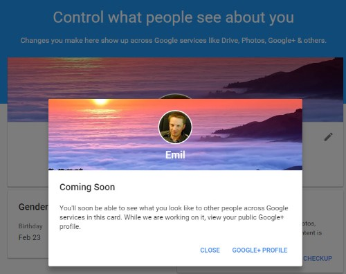 Google's new 'About me' tool lets you control personal information shown by Gmail, YouTube, Maps, and more