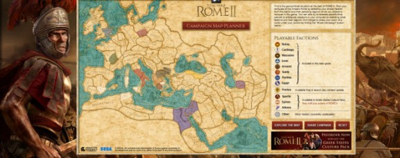 Sega shows off its awesome Total War: Rome II campaign map for Civ fans
