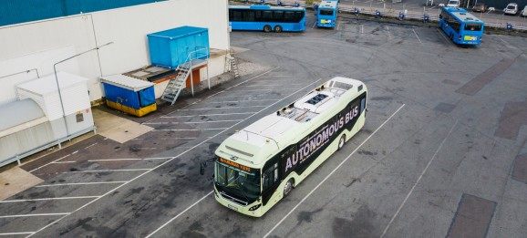 Volvo's prototype autonomous bus drives itself around depots