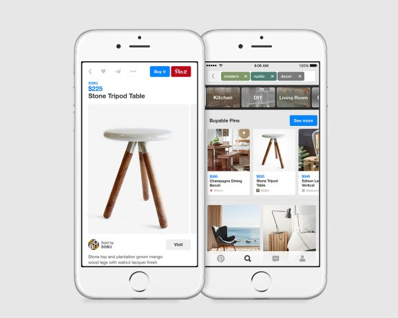 Pinterest rolls out buyable pins on iPhone and iPad in the U.S., with Android and desktop support coming later