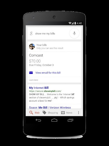 Google mobile app can now surface your past and upcoming bills from your Gmail account
