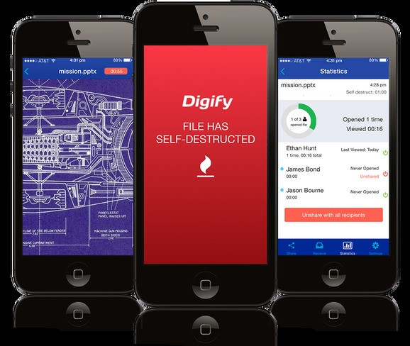 Share documents securely with Digify, a 'Snapchat for business content'