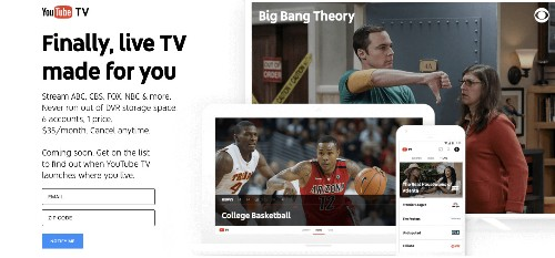 YouTube TV is a $35 online cable bundle with 40 networks, launching in 'next few months'