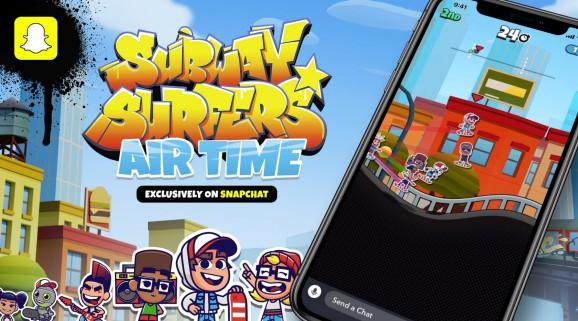Snapchat's latest mobile game is Subway Surfers Airtime from Sybo Games