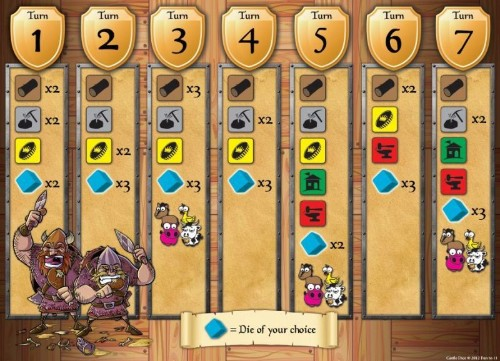 Great tabletop games for video gamers: Castle Dice