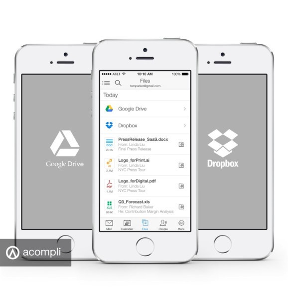 Email app Acompli now lets you attach files from Google Drive and Dropbox