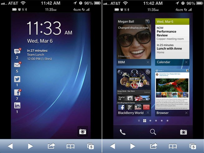 BlackBerry lets iPhone and Android users try out the new BB 10 OS in their browsers