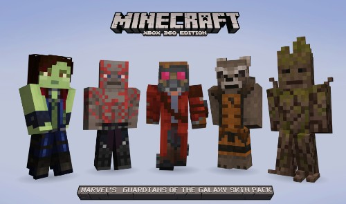 Guardians of the Galaxy heroes invade Minecraft, Marvel Pinball, and more