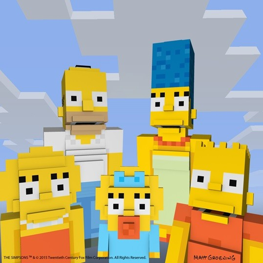 Minecraft teams up with 'The Simpsons' for another one of its lucrative skin packs
