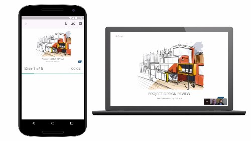 Google Slides for Android now lets you share presentations via a Hangout video call