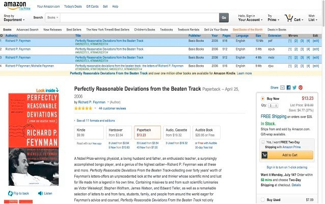 This browser extension turns Amazon into a pirated ebook search engine
