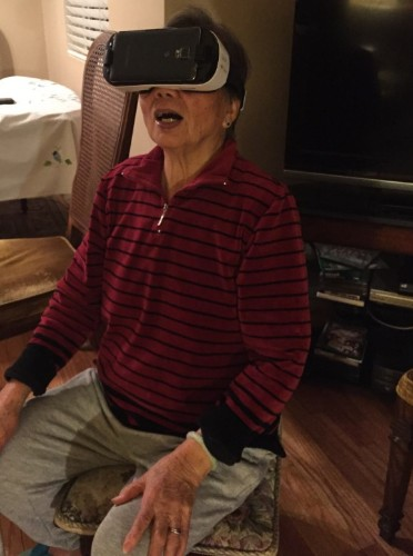 Three grandmas show how virtual reality can be the life of a holiday party