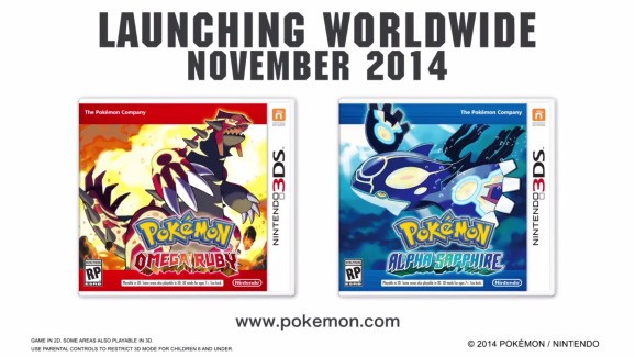 New Pokémon coming later this year: Omega Ruby and Alpha Sapphire hit 3DS in November