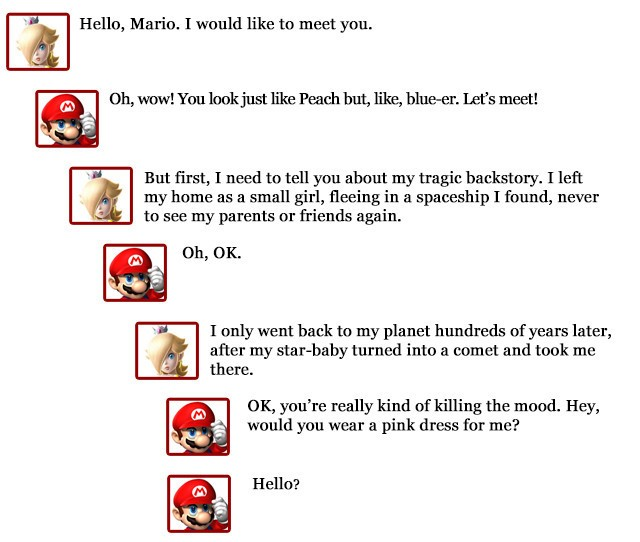 If Mario had a dating site profile