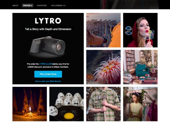 Lytro's light-field photos get their first outside showcase on photo site 500px