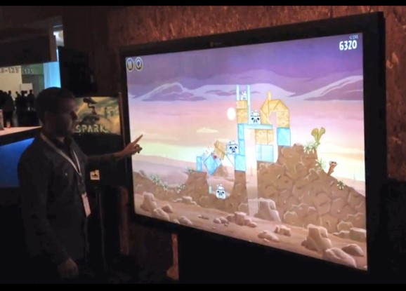 Playing Angry Birds on a $21K 82-inch touchscreen is awesome (video)