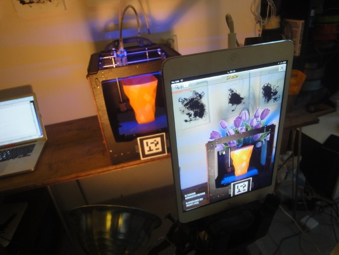 What happens when you combine 3D printing and augmented reality? Magic