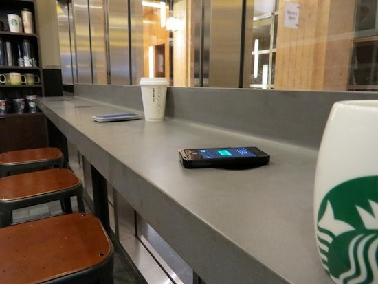 Starbucks rolls out wireless charging stations in Silicon Valley