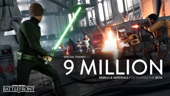 Star Wars: Battlefront had 9M gamers battling for the Empire and Rebel Alliance