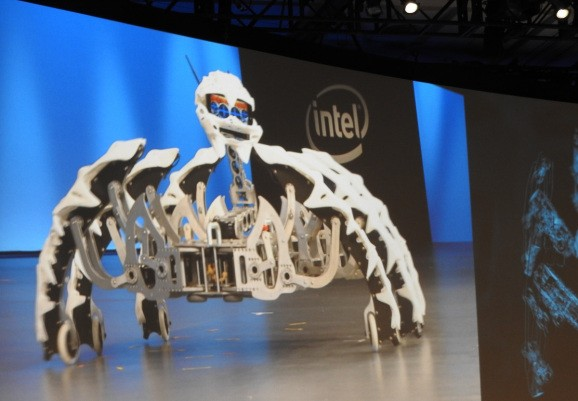 Intel shows off dancing robot spiders