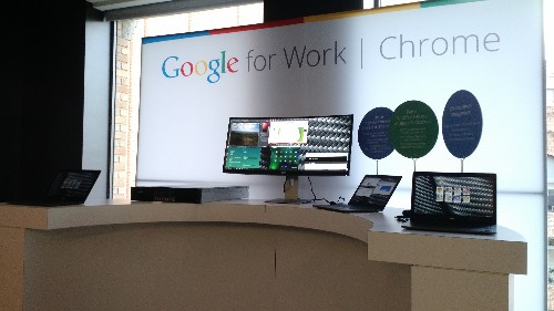 Google adds file sharing, VPN, virtualization options in Chromebooks for Work; Dell unveils Chromebook 13