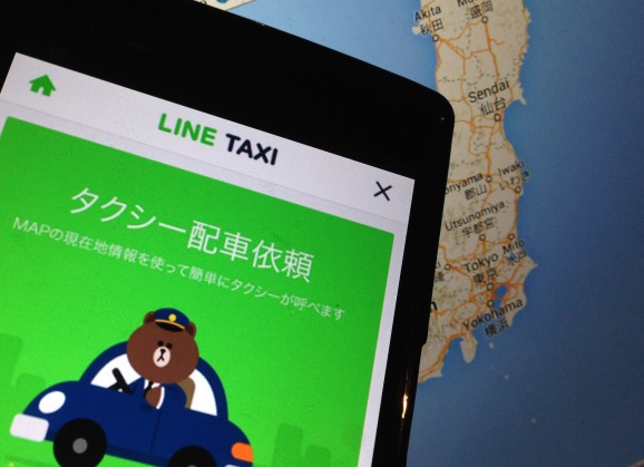 Messaging giant Line launches a taxi service to take on Uber in Japan