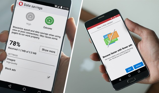 Opera's ad-blocker graduates 'beta' on its desktop browser and launches on Android