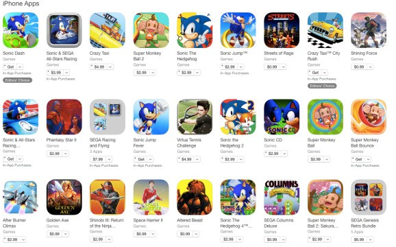 Sega trims its mobile catalog — says it's all meeting 'standards' (update)