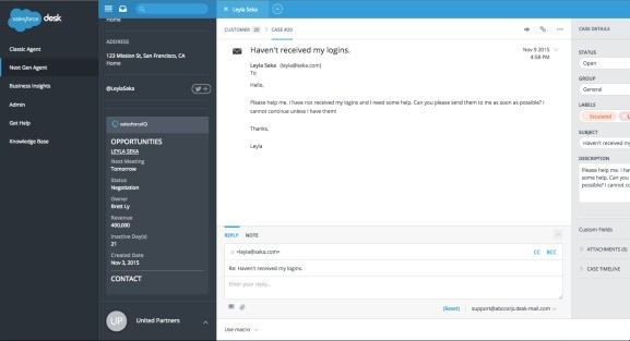 SalesforceIQ pairs with Desk.com so small businesses can better manage sales and customer service
