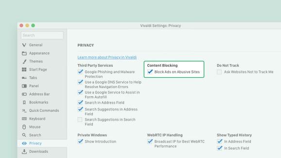 Vivaldi 2.6 introduces abusive ad blocking, revamped user profiles