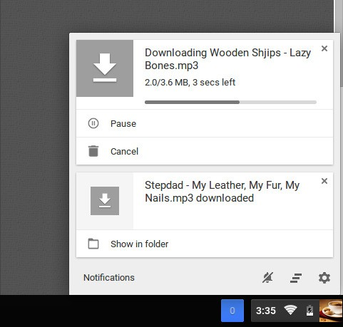 Google redesigns downloads as notification center cards in Chrome OS beta release