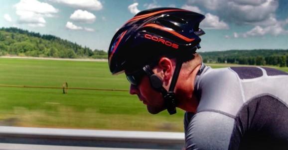 Coros debuts its Linx smart cycling helmet with bone conduction audio