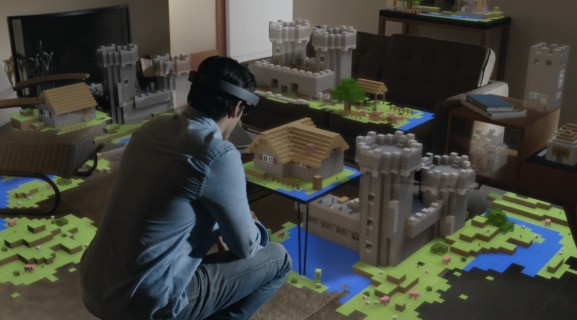 I tried Minecraft with Microsoft HoloLens, and now I don't want to work anymore