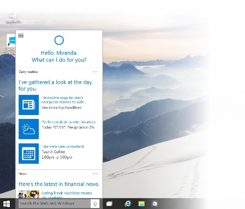 Microsoft releases new Windows 10 preview with Cortana, revamped Start menu, and Xbox app