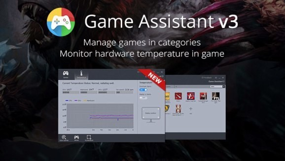 Game Assistant 3 helps keep track of your PC's performance and games