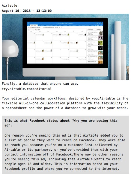 Fuzzify.me shows how advertisers are targeting you on Facebook