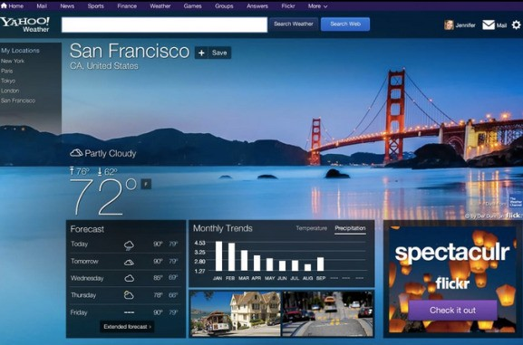 Yahoo brings fresh redesigns — and native ads — to its biggest websites