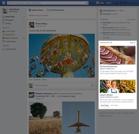 Chasing clicks (and bucks), Facebook gives its column ads another makeover