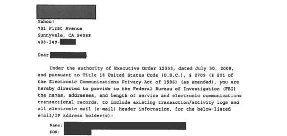 Yahoo becomes first company to disclose FBI National Security Letters